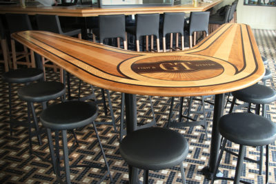 GT Fish & Oyster Custom Bar Millwork Countertop